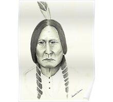 Native American Pencil Portrait 1 Poster