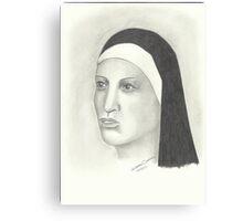 Nun - Pencil Portrait 2 Canvas Print