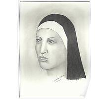 Nun - Pencil Portrait 2 Poster