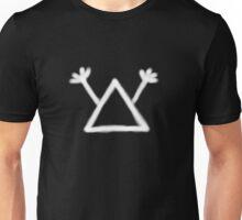 Hobo Symbol: Man with gun (white print) Unisex T-Shirt
