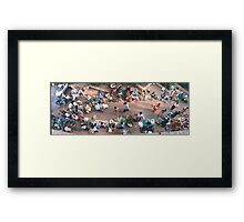 Early Morning Vegetable Market Framed Print