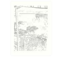 The flower stall Art Print