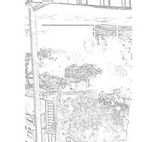 The flower stall Photographic Print