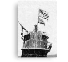 Old Glory Flies over the U-505 1944 (photo) Canvas Print