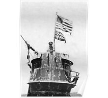 Old Glory Flies over the U-505 1944 (photo) Poster