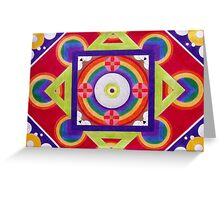 Connections - Geometric Art Greeting Card