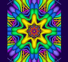 The Sun & Rainbow Patterns iPad case by walstraasart