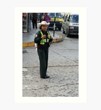 Peruvian Policewoman Art Print