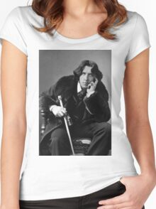 The Picture of Oscar Wilde Women's Fitted Scoop T-Shirt