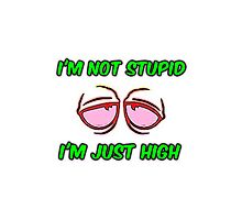 I'm not stupid I'm just high Photographic Print