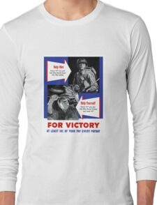 Help Him For Victory -- WWII Long Sleeve T-Shirt