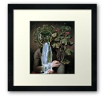 Looking at the Geranium. Framed Print