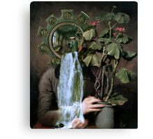 Looking at the Geranium. Canvas Print