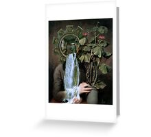 Looking at the Geranium. Greeting Card