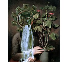 Looking at the Geranium. Photographic Print