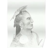 Native American - Pencil Portrait 3 Poster