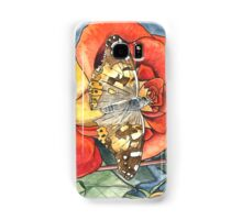 Butterfly on a rose Samsung Galaxy Case/Skin