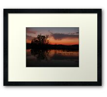 Reflection of sunset clouds Framed Print