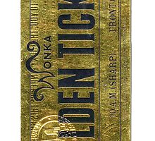 Willy Wonka Golden Ticket by Aquilius