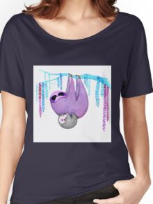 Colorful Sloths Women's Relaxed Fit T-Shirt