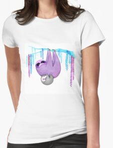 Colorful Sloths Womens Fitted T-Shirt