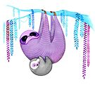 Colorful Sloths by Annya Kai