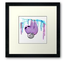 Colorful Sloths Framed Print
