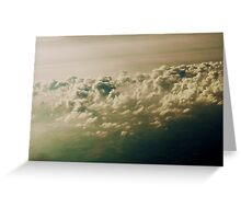 Clouds Viewed From Airplane Flying Over Atlantic Greeting Card
