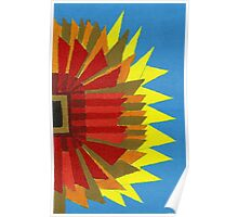 Abstract Art Study Sunflower Poster