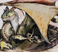 Momma Dragon by elasticdragon