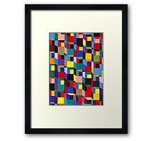 Abstract Art Study Colorful Blocks Framed Print