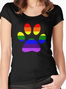 Rainbow Paw Women's Fitted Scoop T-Shirt