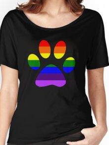 Rainbow Paw Women's Relaxed Fit T-Shirt