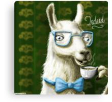 The Fancy Llama Canvas Print