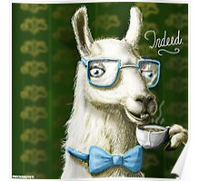 The Fancy Llama Poster