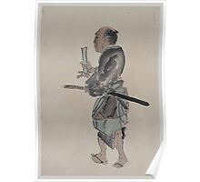 Man with a sword walking toward the left 001 Poster