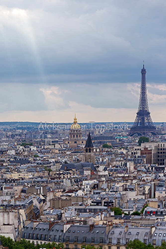 Astonishing Panorama - Paris in Blue  by Aleksandar Topalovic