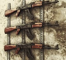 AK-47 Gun Rack by Liam Liberty