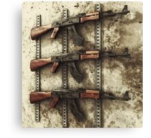 AK-47 Gun Rack Canvas Print