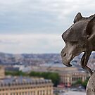 One of Notre-Dame's well known gargoyle statues. by Aleksandar Topalovic