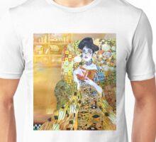 girl in library Unisex T-Shirt