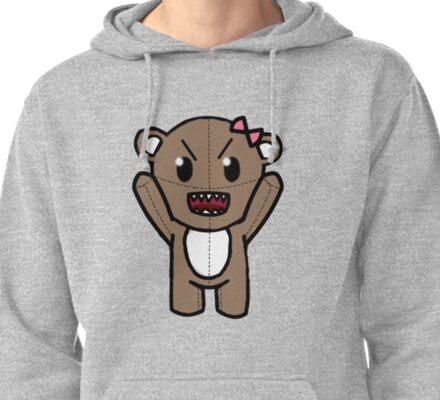 Angry Teddy Bear Pullover Hoodie