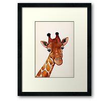 Giraffe Watercolor Framed Print