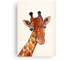 Giraffe Watercolor Metal Print