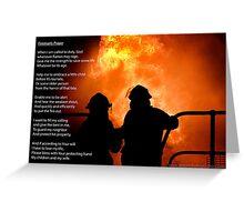 Fireman's Prayer Greeting Card