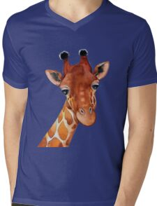 Giraffe Watercolor Mens V-Neck T-Shirt