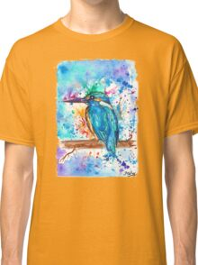 KINGFISHER - Watercolor bird painting - artwork by Jonny2may Tshirts + More! Classic T-Shirt