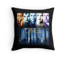 Once Upon a Time, OUAT, season 1, rumplestilskin, emma swan, prince charming, snow white, regina, evil queen, blue woods Throw Pillow