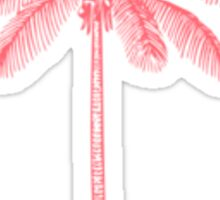 Pink Palm Tree Sticker