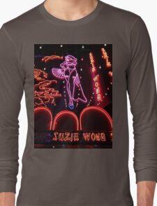 Suzie Wong's bar on Soi Cowboy (vertical) Long Sleeve T-Shirt